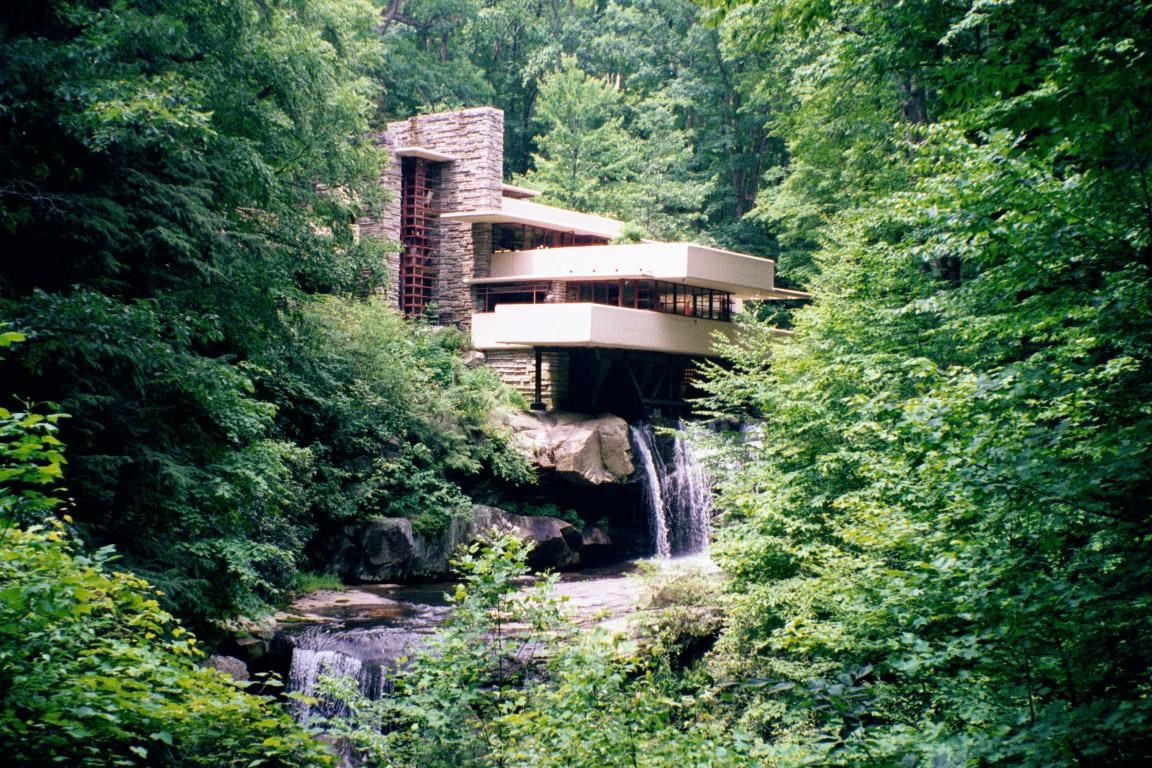 Vista clásica de la casa
