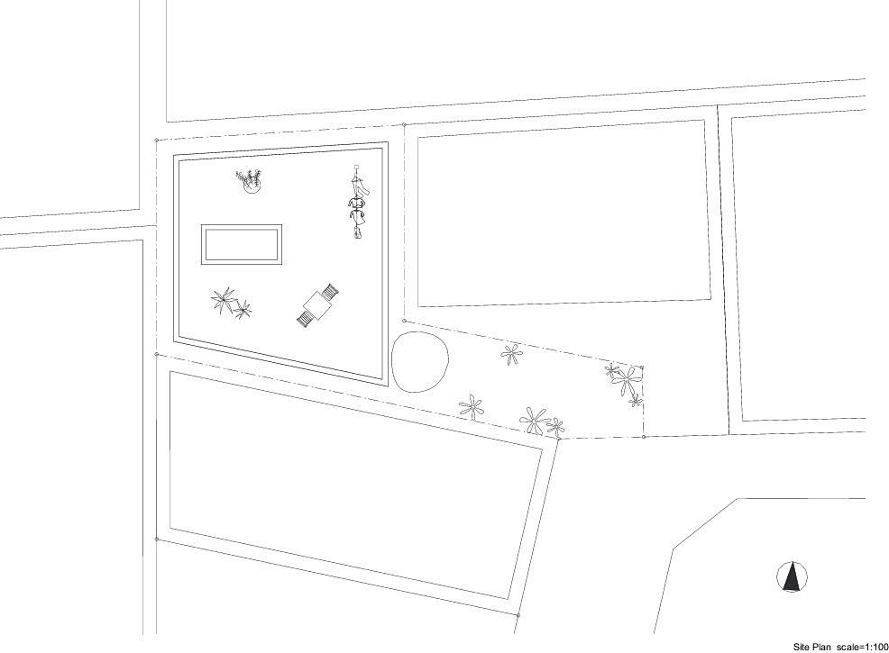 Planos de Casa T de Hiroyuki Shinozaki Architects