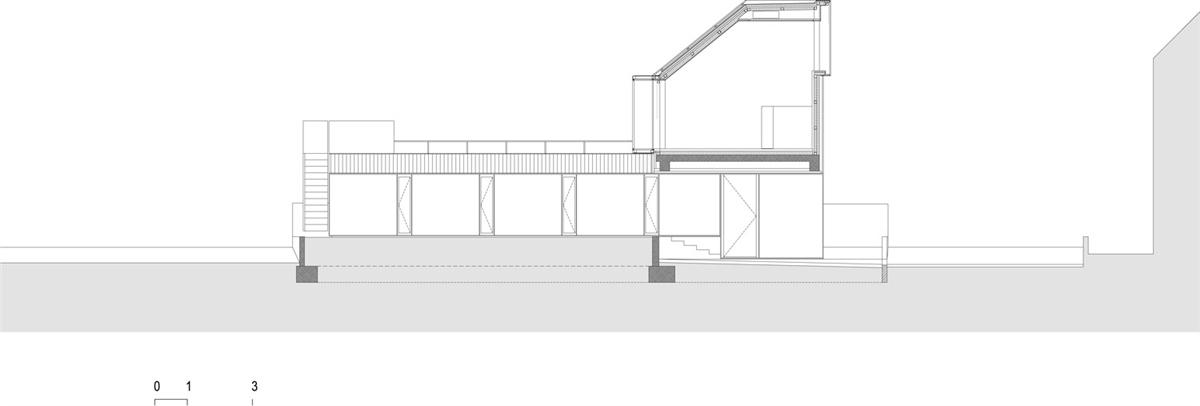 Alzado de House S/B de Bevk Perovic Arhitekti