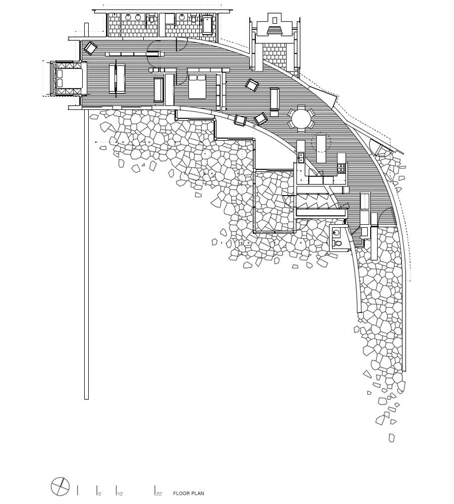 Plano de Edge House de Bohlin Cywinski Jackson