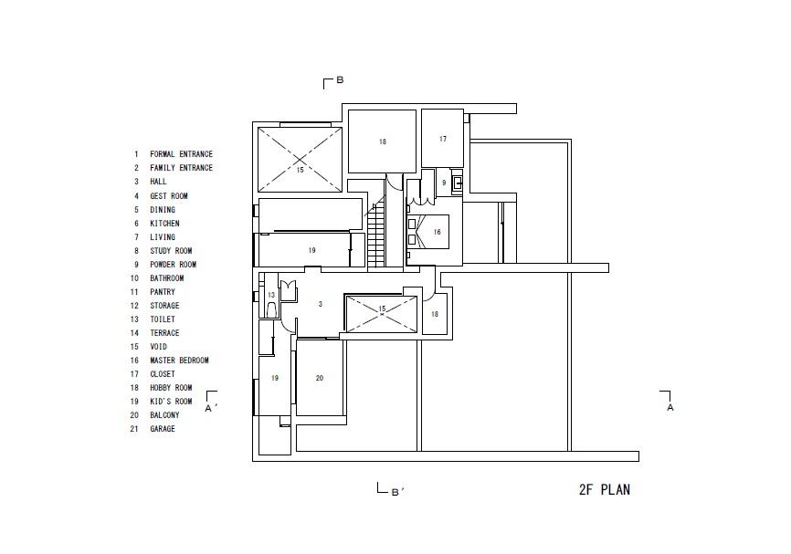 Plano de Silence House de FORM / Kouichi Kimura Architects
