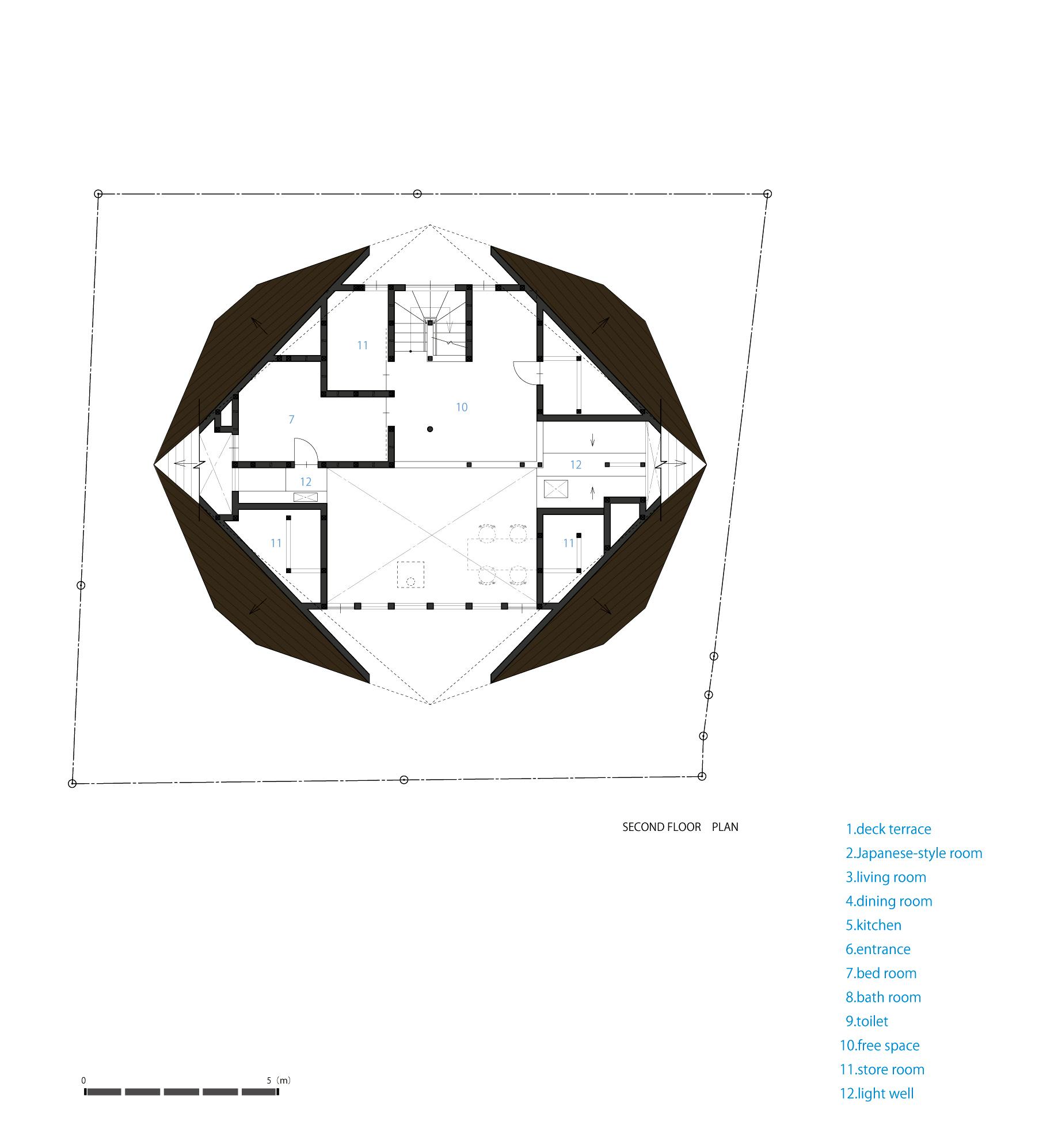 Planos de Casa Origami de TSC Architects