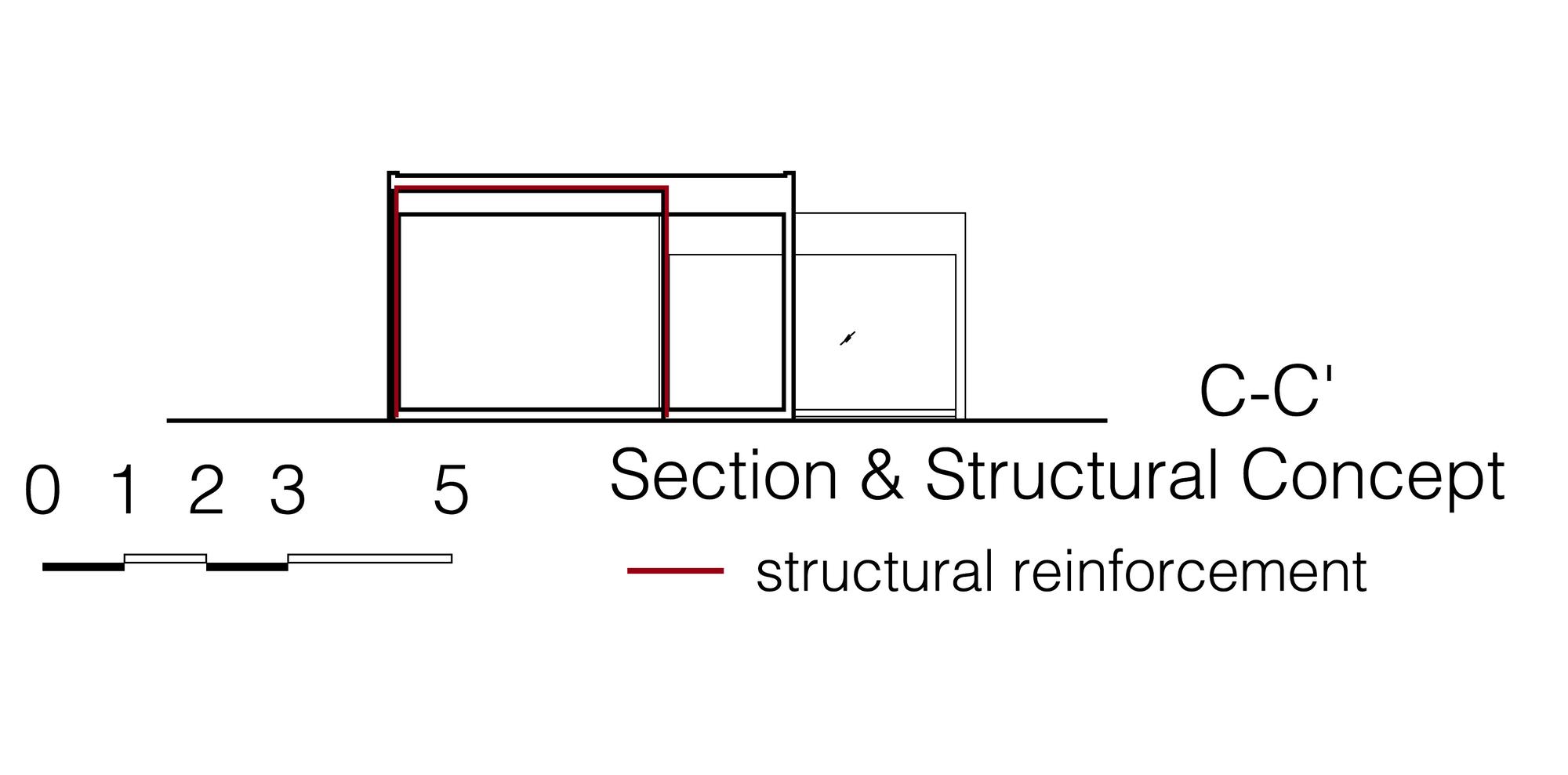 Sección de Casa Sakura de Yamazaki Kentaro Design Workshop