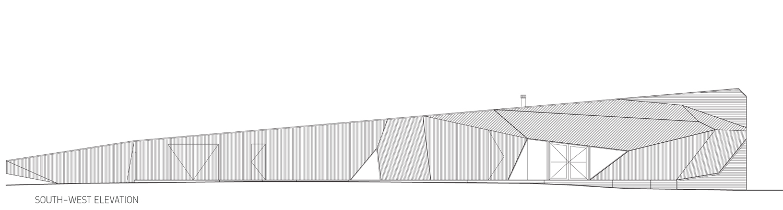 Plano de Fachada de LetterBox House de McBride Charles
