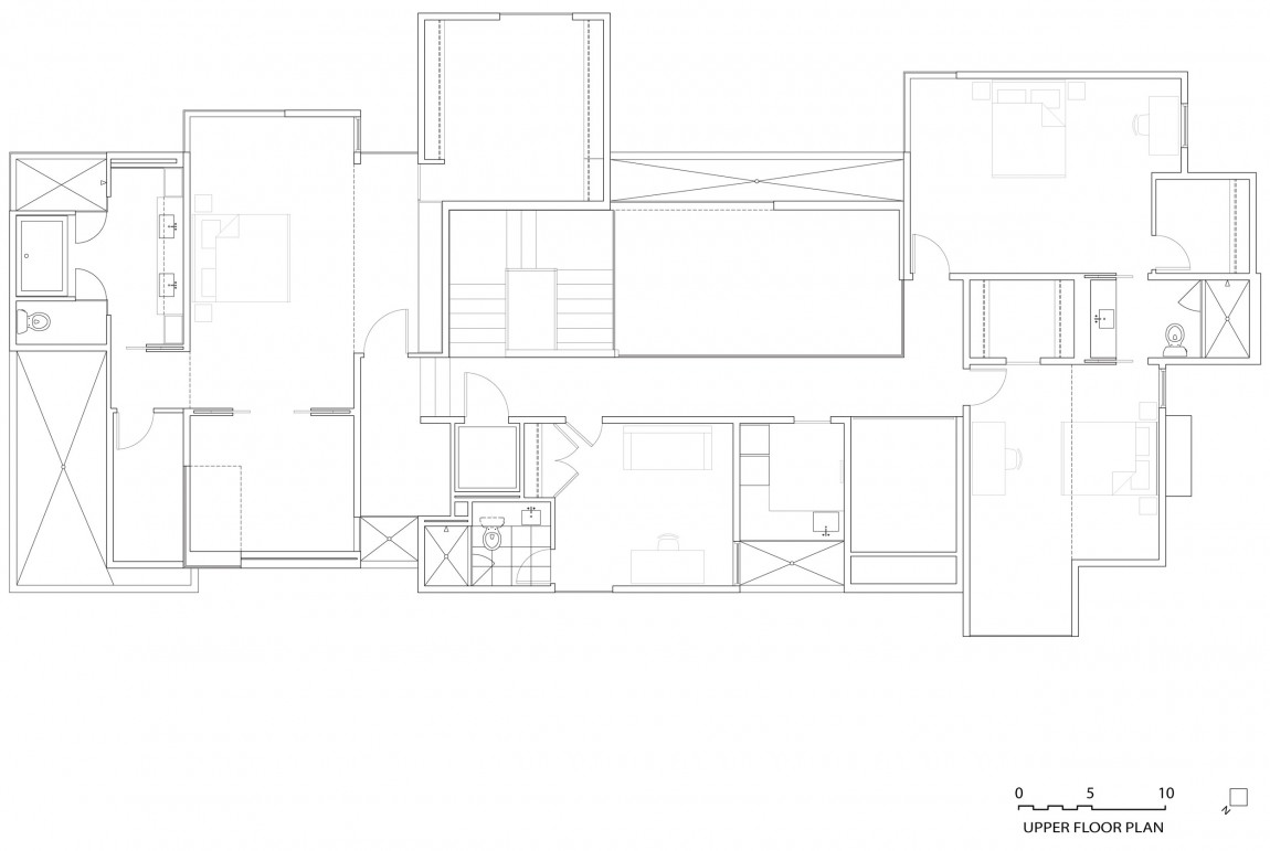 Plano de Planta de Casa NaCl de David Jameson Architect