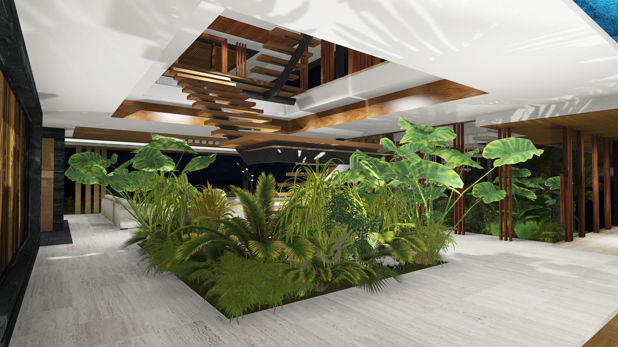 Render de Casa Xalima Island de Martin Ferrero Architecture