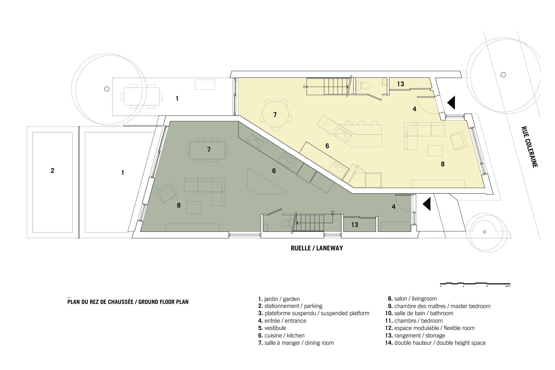Plano 1 de Casa Coleraine de NatureHumaine