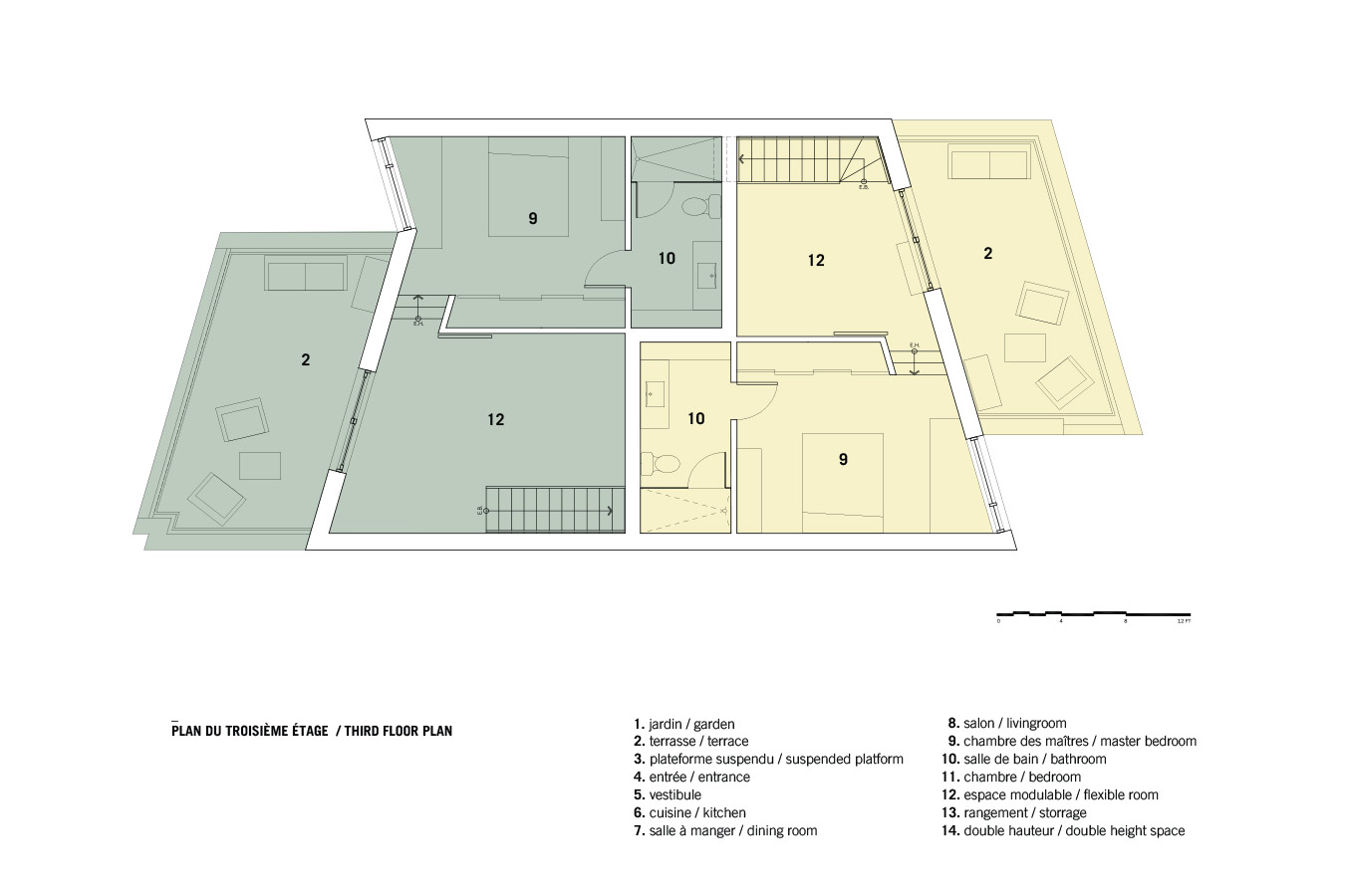 Plano 3 de Casa Coleraine de NatureHumaine