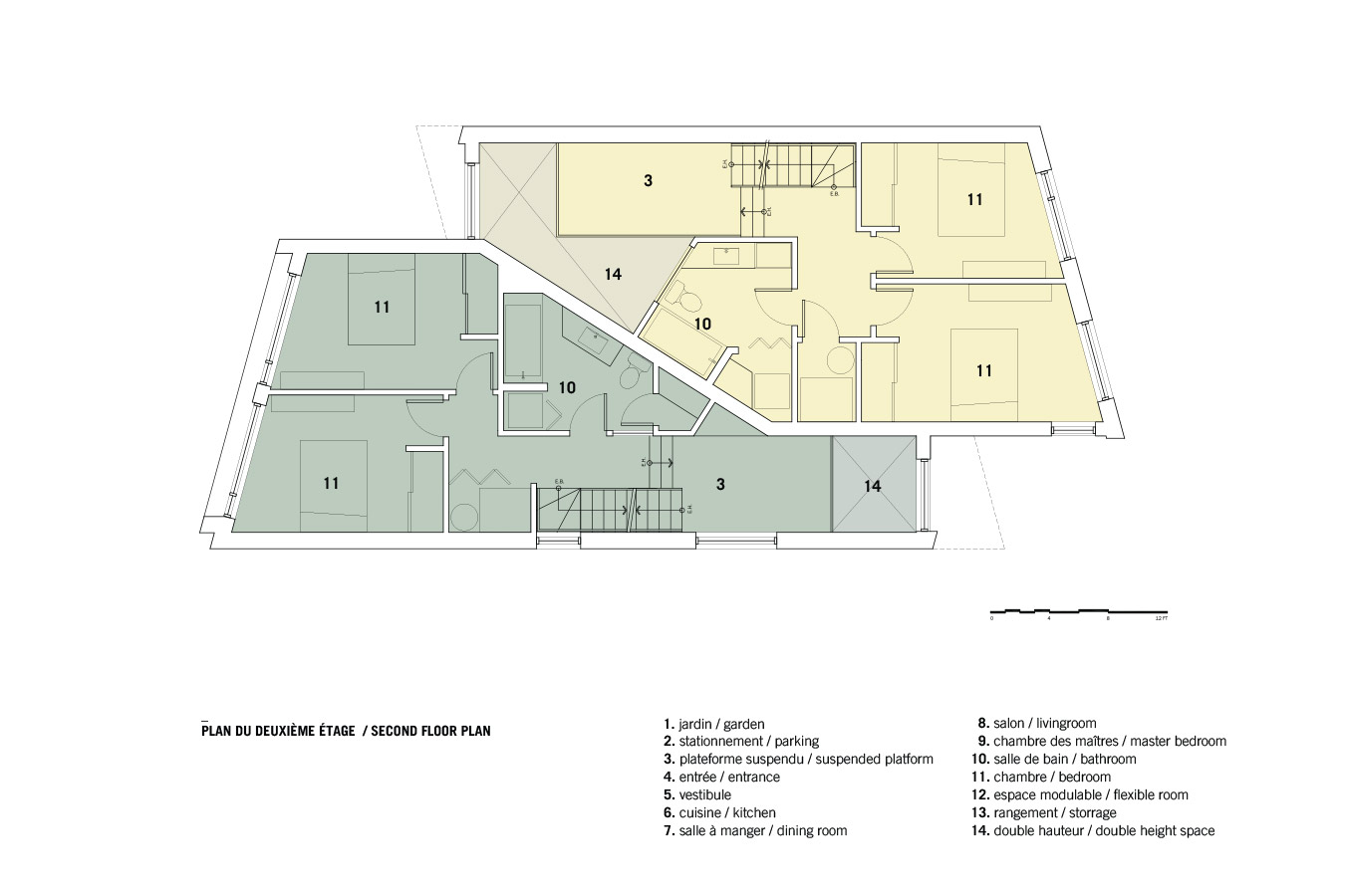 Plano 2 de Casa Coleraine de NatureHumaine