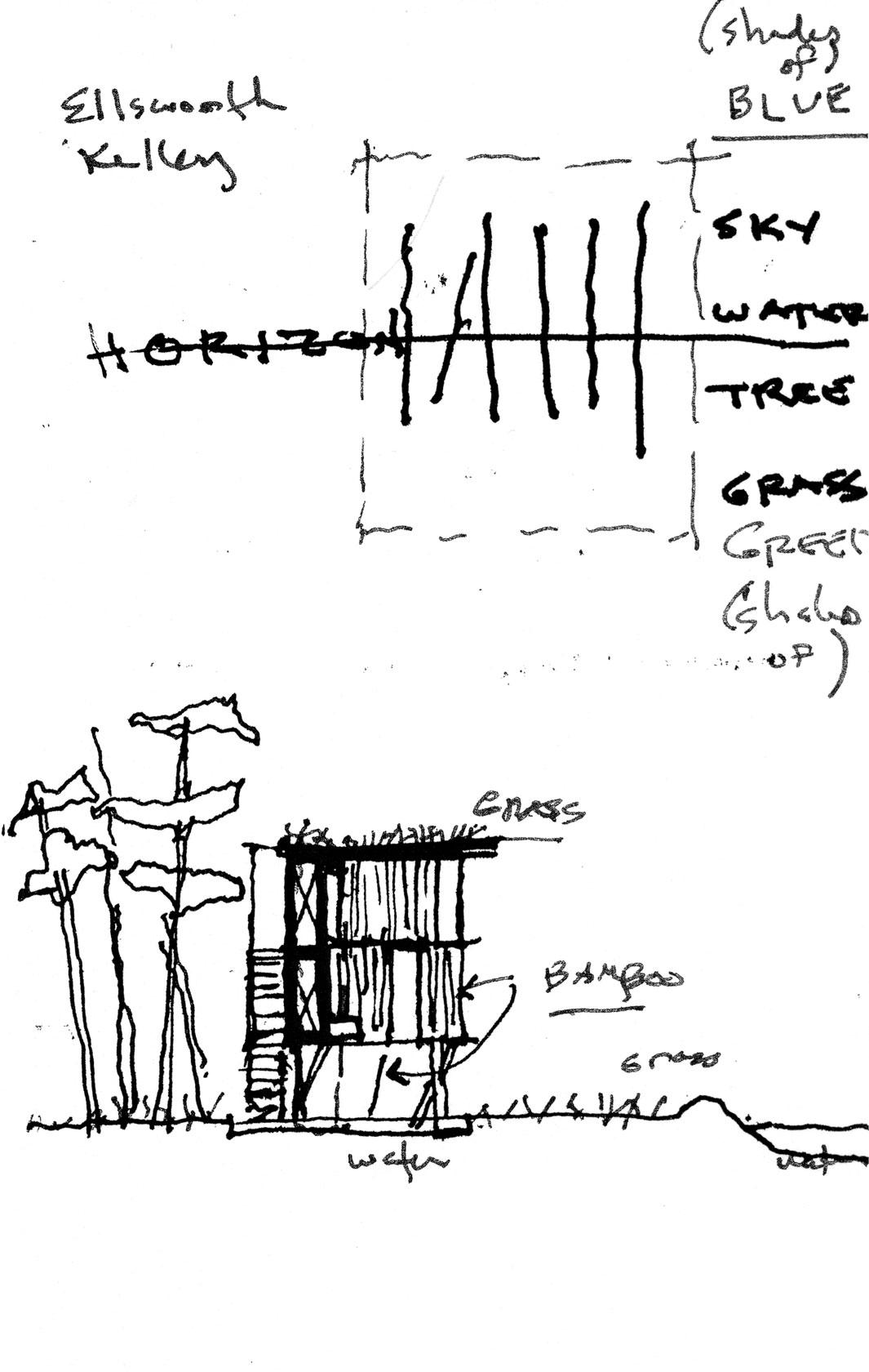 Dibujos de Casa Loblolly de Kieran Tiberlake