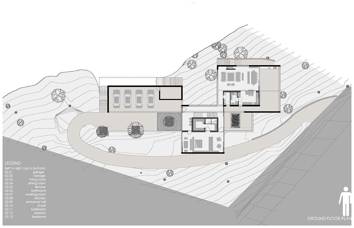 Planos de Casa Narigua de p + 0 Arquitectura