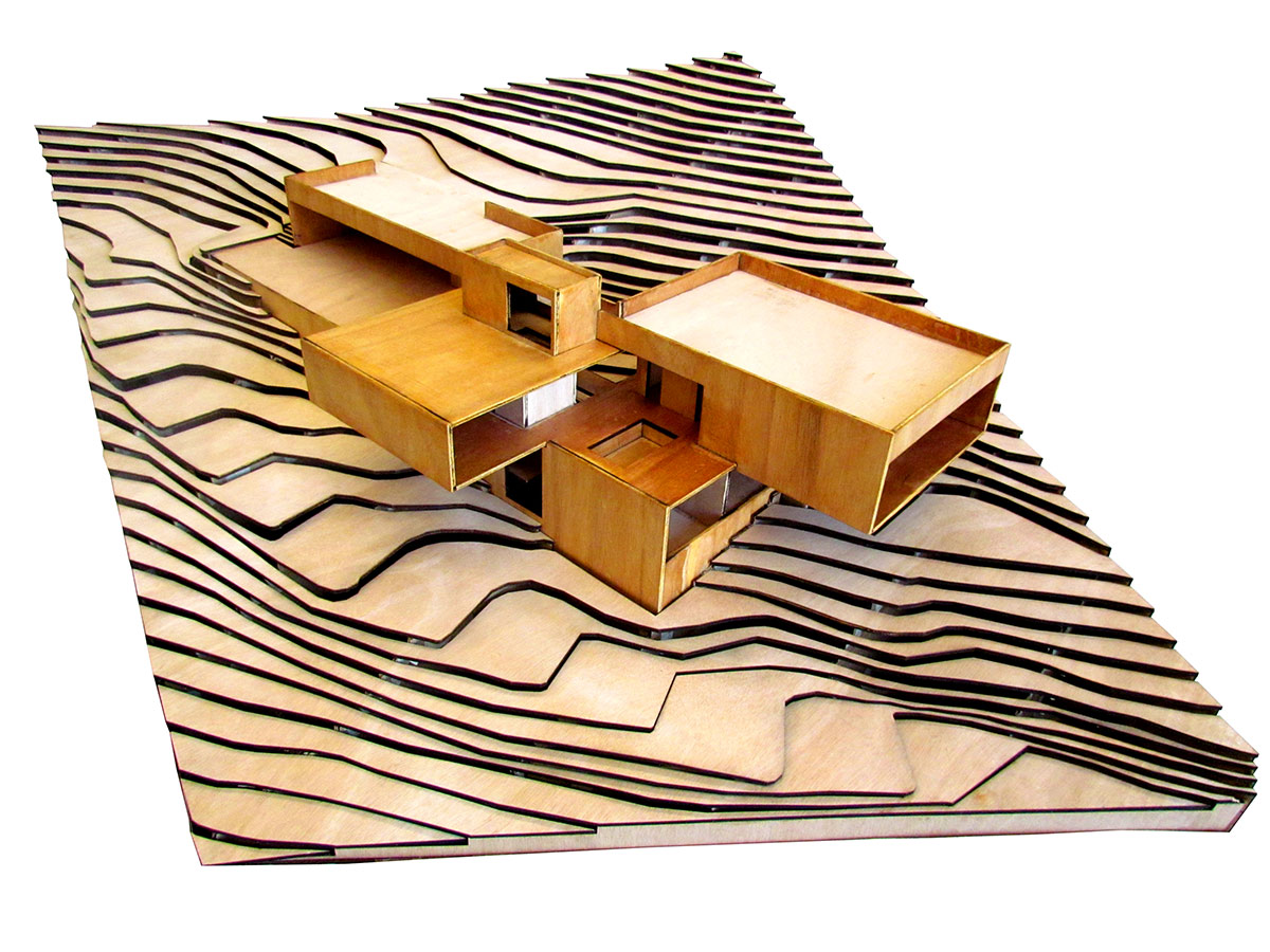 Maqueta de Casa Narigua de p + 0 Arquitectura