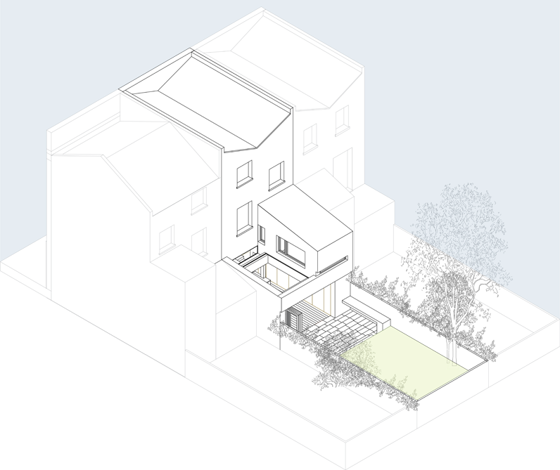 Diagrama de Casa Inslington House de Neil Dusheiko Architects