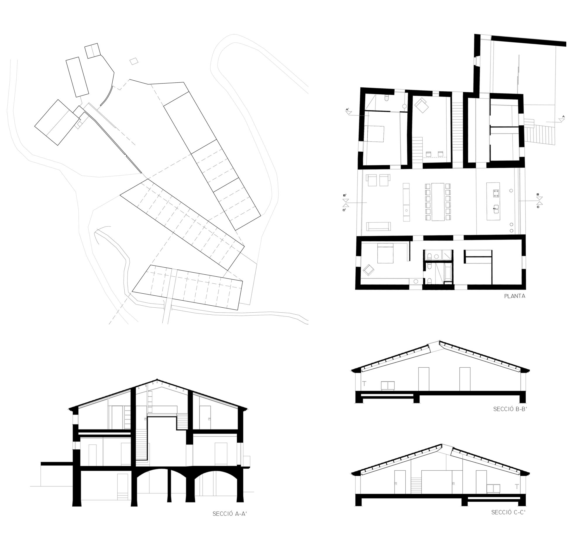 Alzado de Casa Granero de Arnau Estudi d'Arquitectura