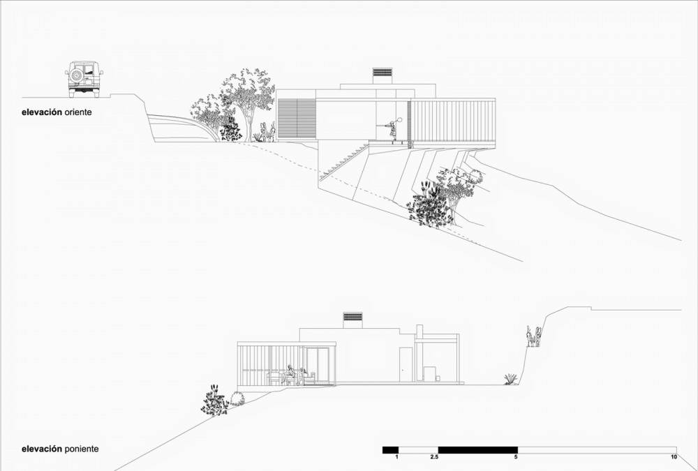Plano de Casa Elias de ZS Arquitectos