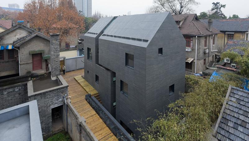 Concrete Slit House de AZL architects