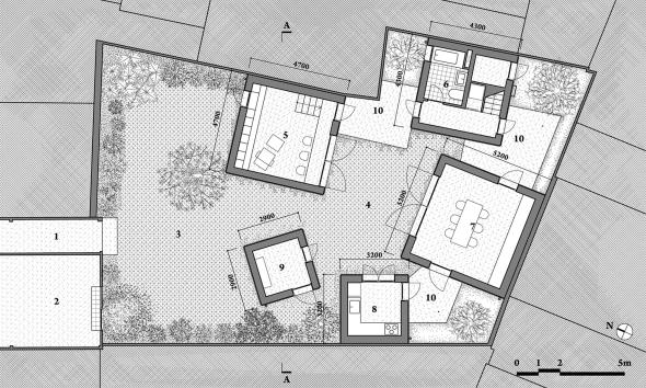 Planos de Casa para árboles de Vo Trong Nghia Architects