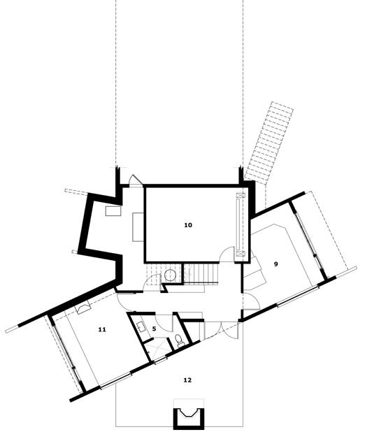 Planos de San Juan Cliffside de Prentiss Architects