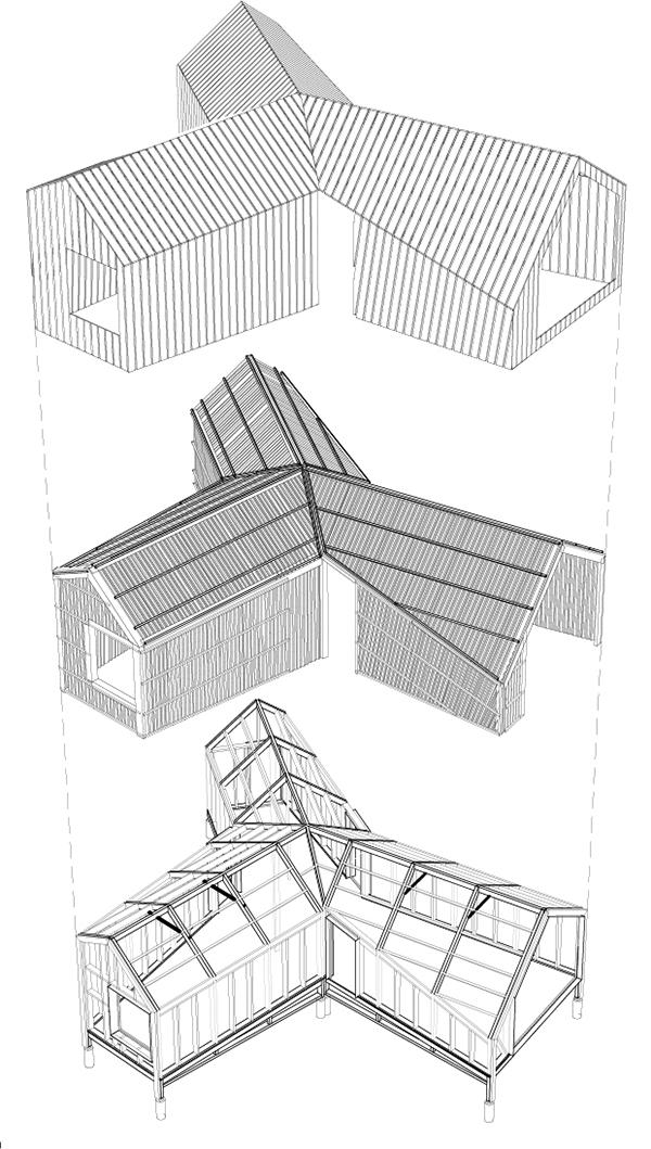 Planos de La Cabotte de H20 Architectes