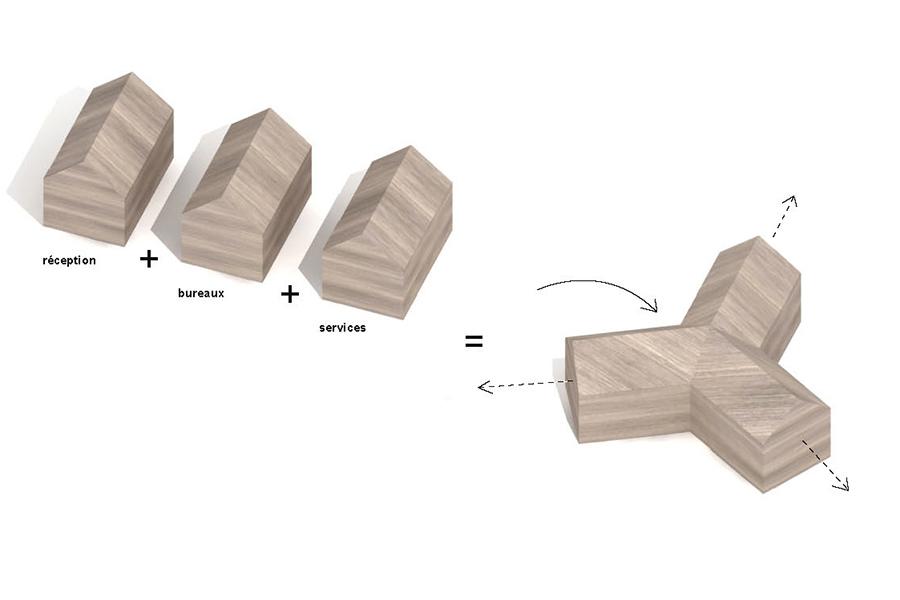 Diagrama de La Cabotte de H20 Architectes
