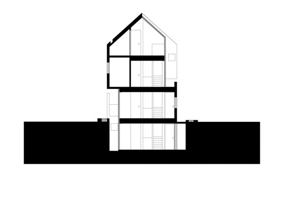 Planos de Concrete Slit House de AZL architects
