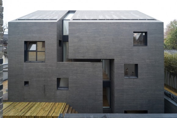 Planos de Concrete Slit House de AZL architects