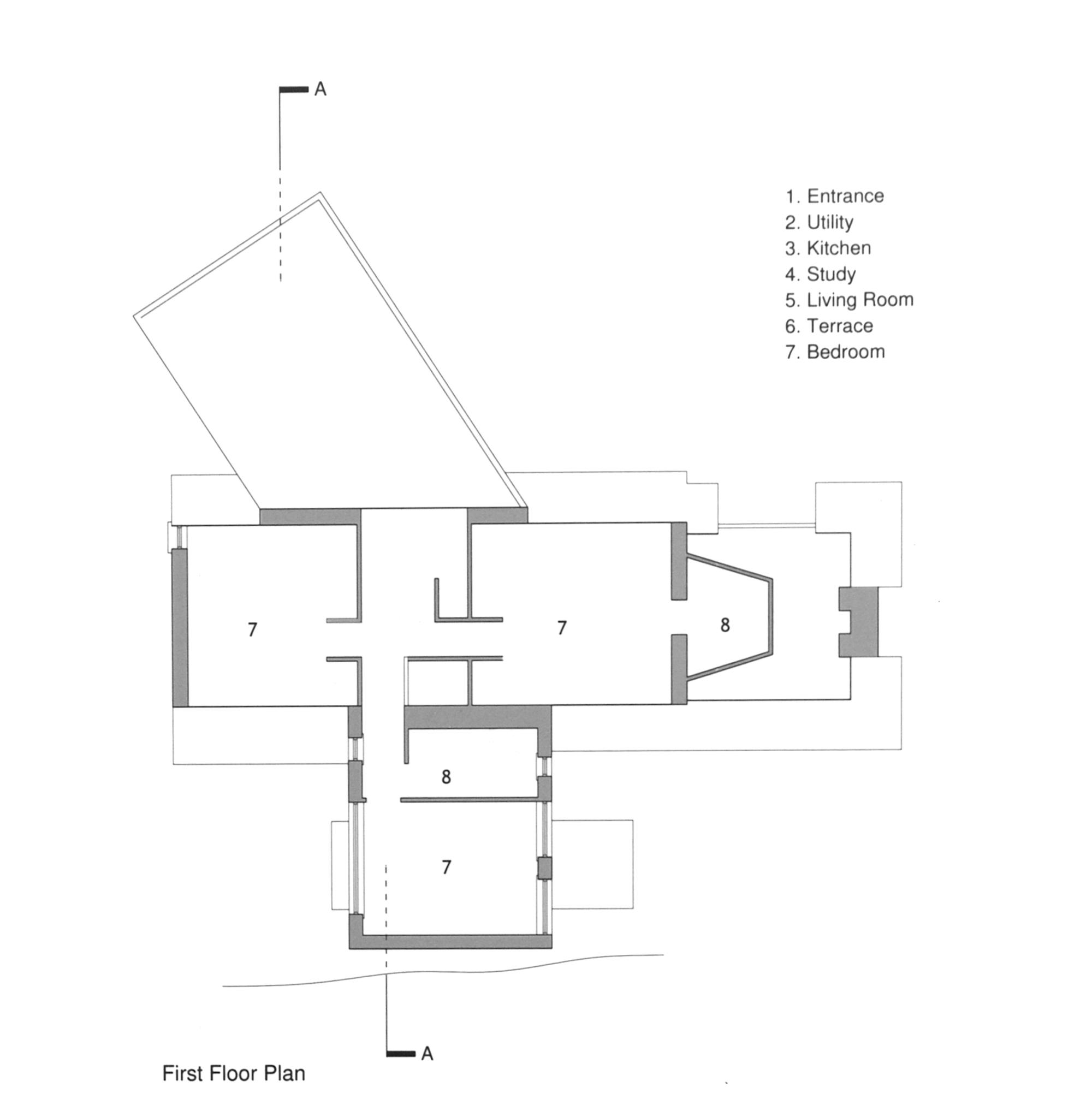 Plano de Plug-in Cottage de MacGabhann Architects
