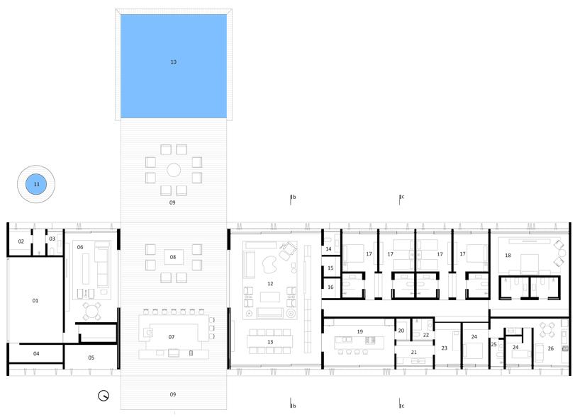 Planos de Casa Casa MM de Studio MK27