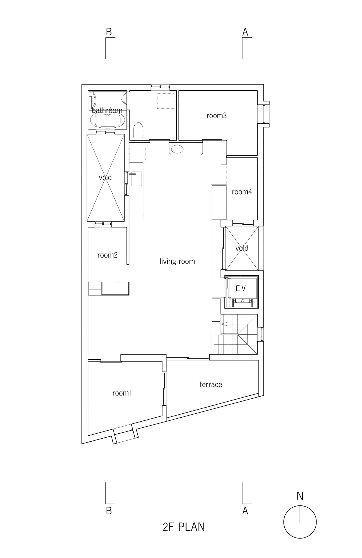 Segunda Planta de Casa en Kitaoji de Torafu Architects