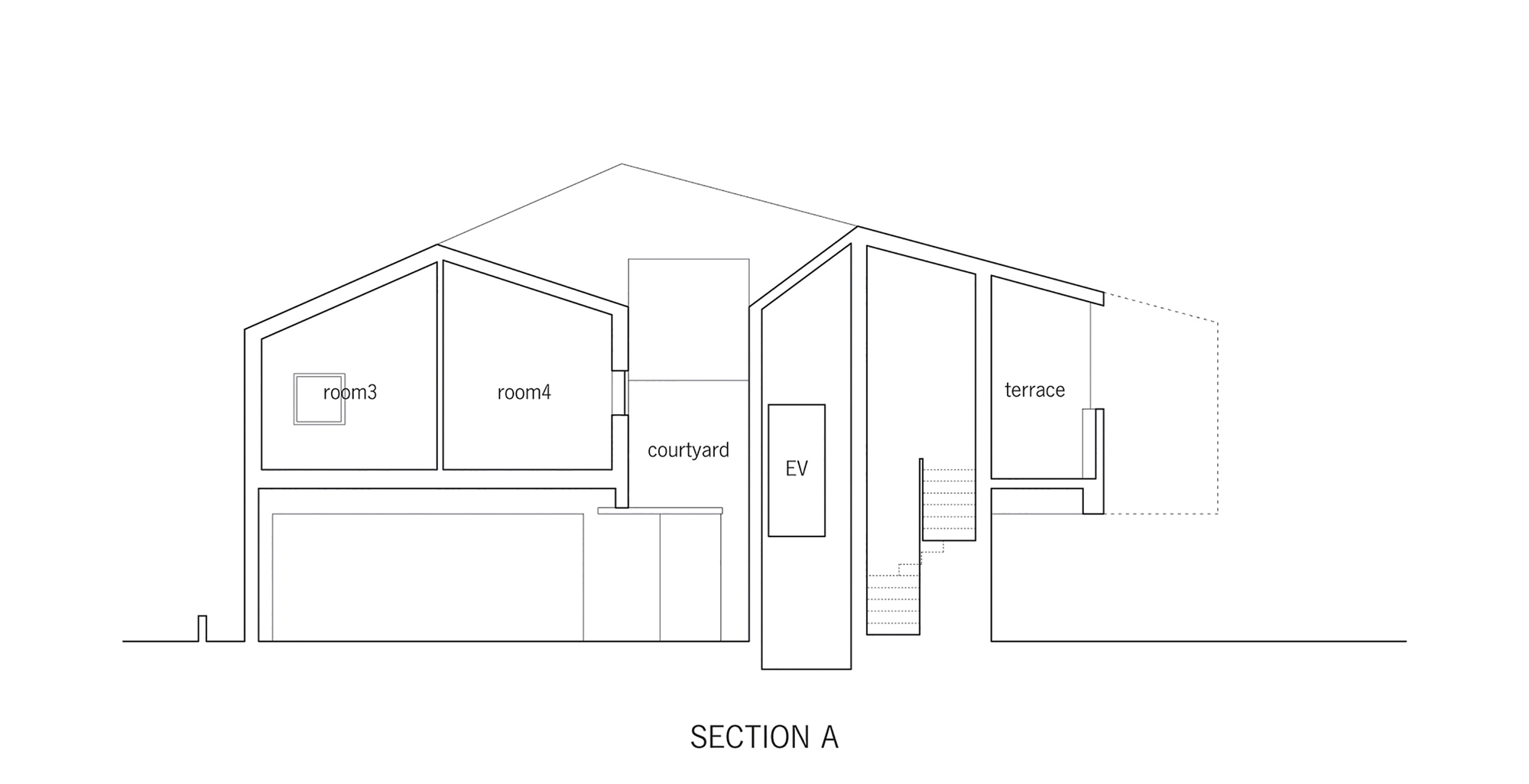 Sección B de Casa en Kitaoji de Torafu Architects