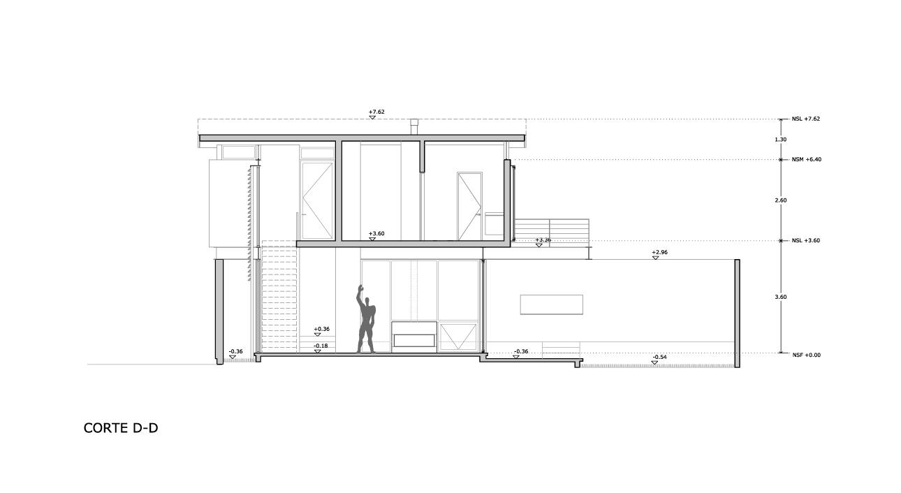 Plano de Corte de Casa Bambara Street de Shaun Lockyer Architects