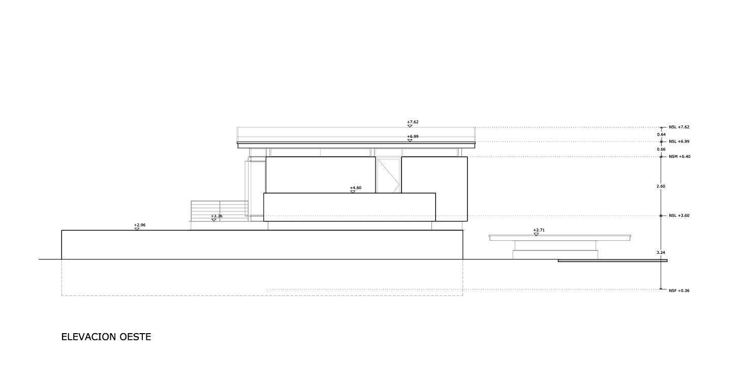 Planos de Elevación oeste de Bambara Street de Shaun Lockyer Architects