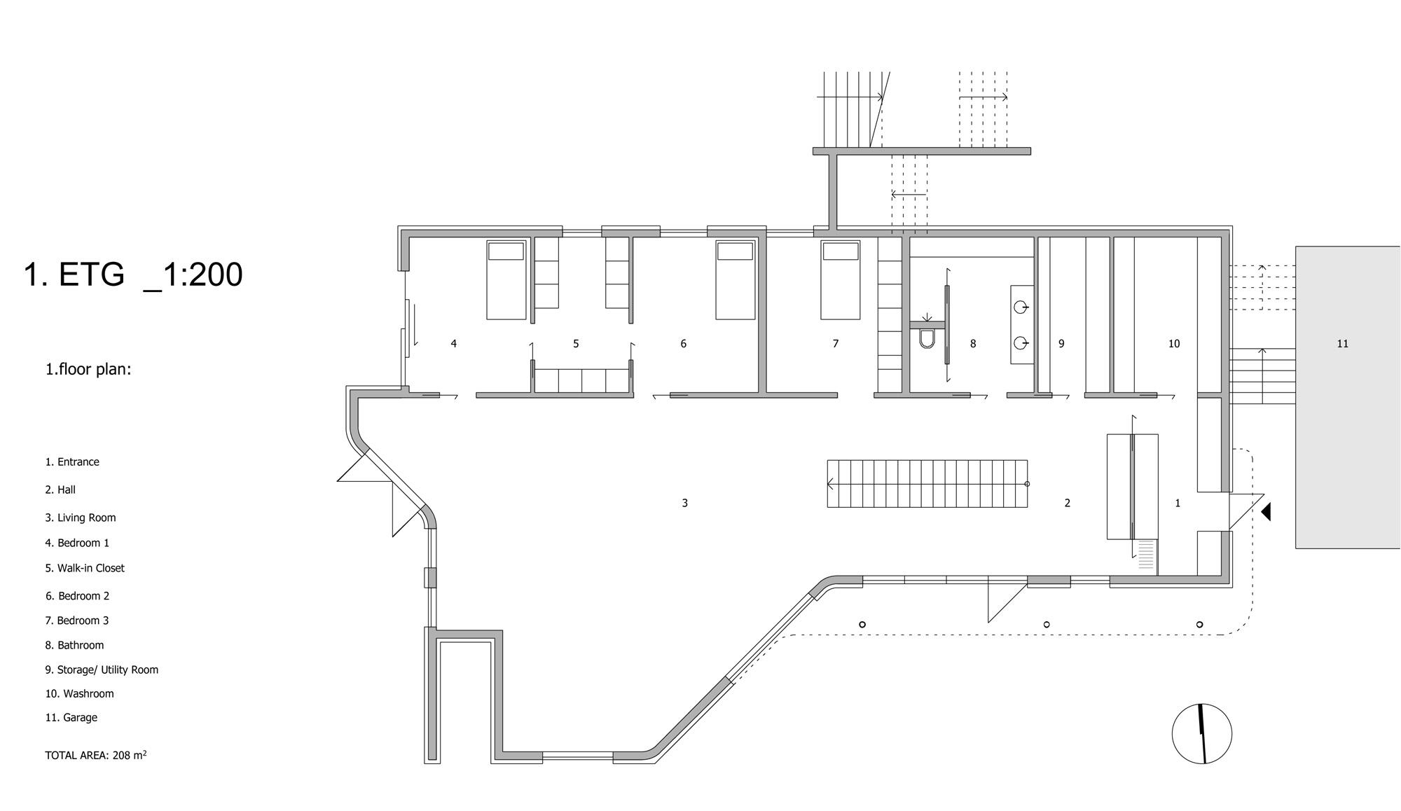 Planos de Villa G de Saunders Architecture