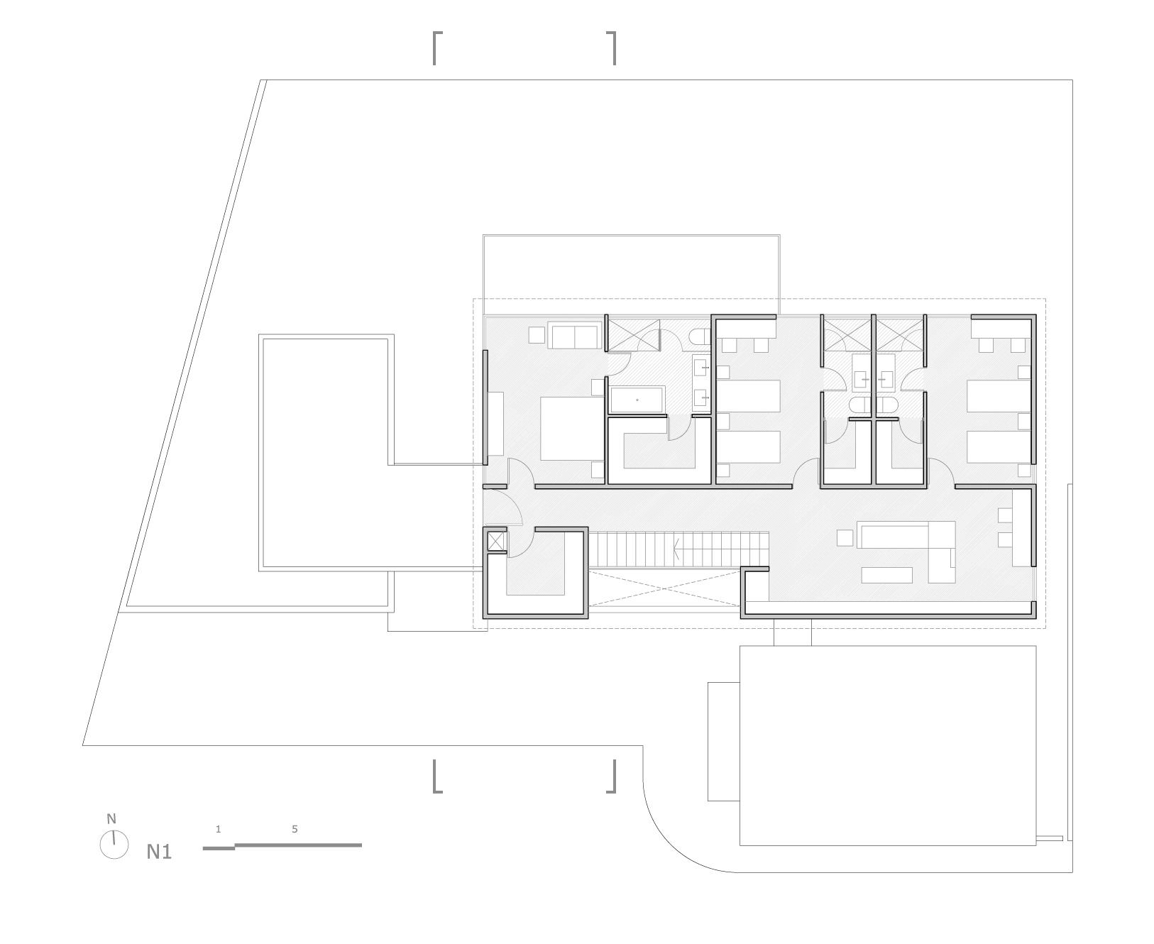 Planos de Planta 1er nivel de Bambara Street de Shaun Lockyer Architects