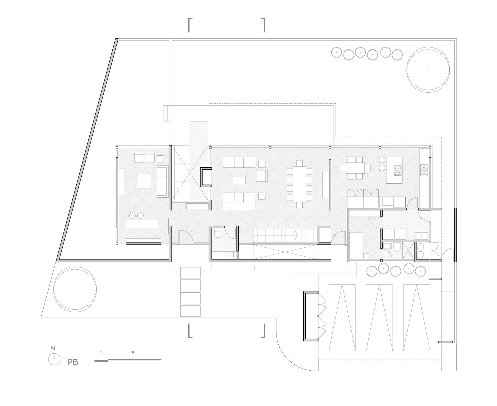 Planos de Planta baja de Bambara Street de Shaun Lockyer Architects