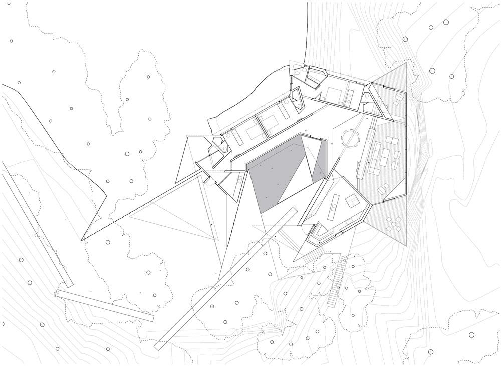 Planos de Casa Tula de Patkau Architects