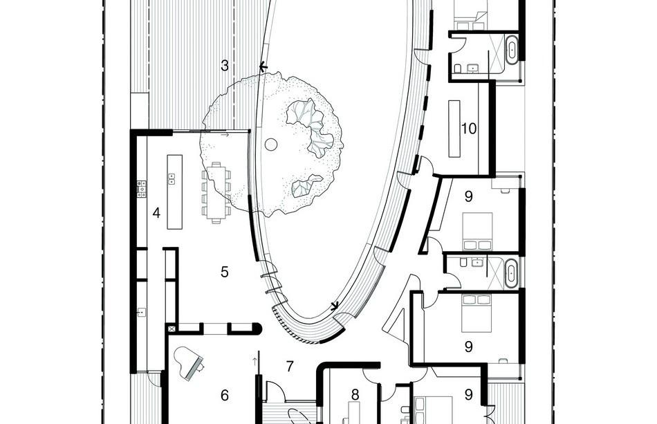 Planta de Subiaco Oval Courtyard de Luigi Roselli Architects