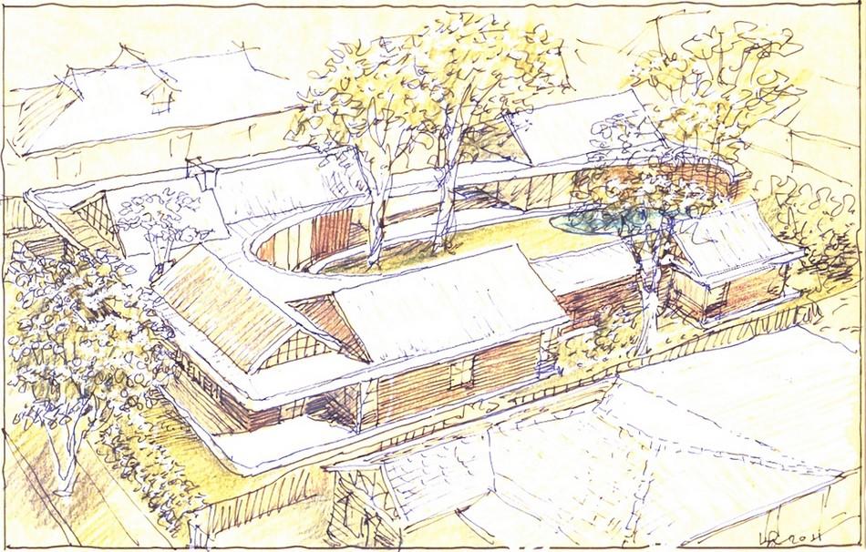 Diagrama de Subiaco Oval Courtyard de Luigi Roselli Architects