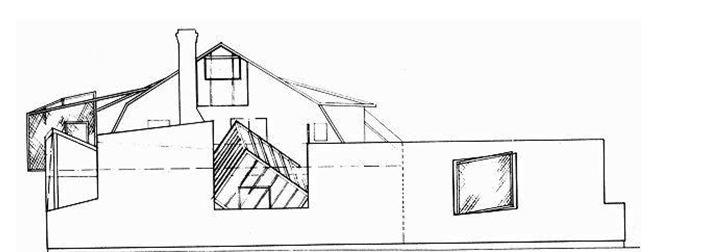 Planos de Fachada de Casa Gehry de Frank Gehry